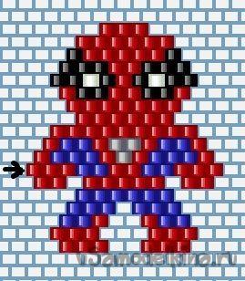 Брелок Человек Паук из бисера