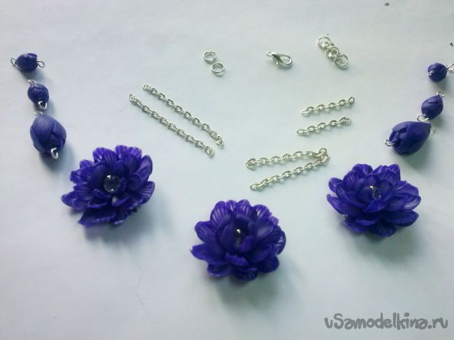 Универсальное ожерелье из полимерной глины и бусин