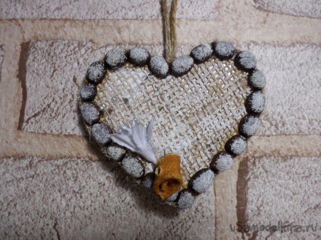Подвес на ёлку «Сердечный»