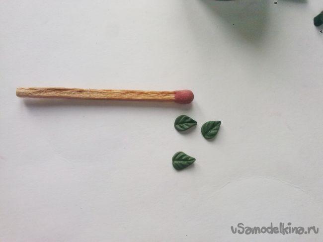 Серьги «Терновый венец» из полимерной глины