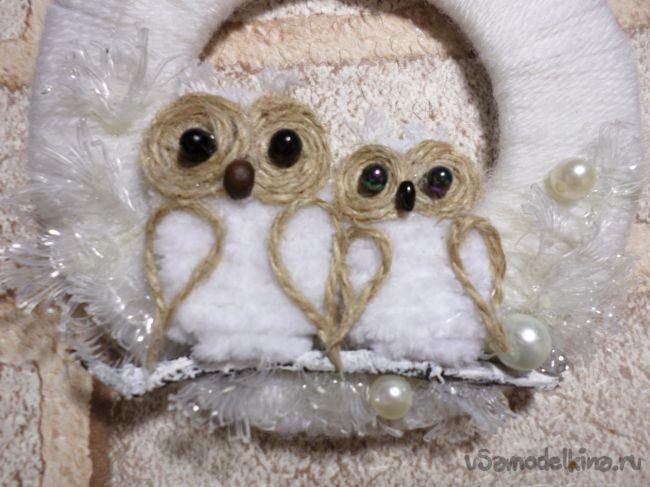 Подвес новогодний «Зимние совушки»