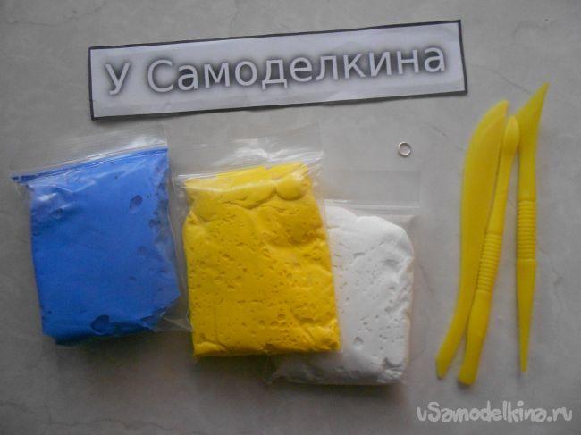 Елочная игрушка «Снеговик» из полимерной глины