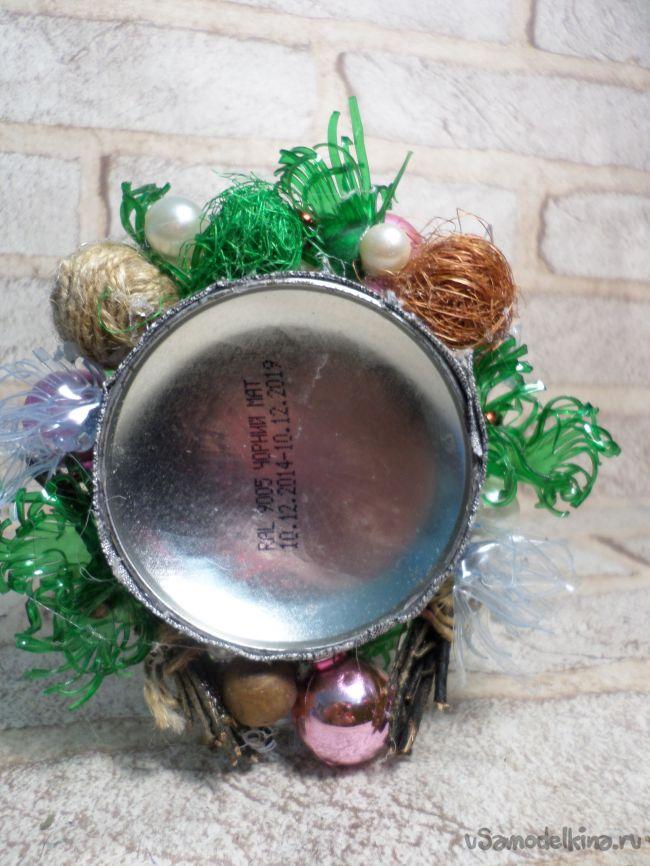 Подсвечник «Новогоднее волшебство» из бросового материала