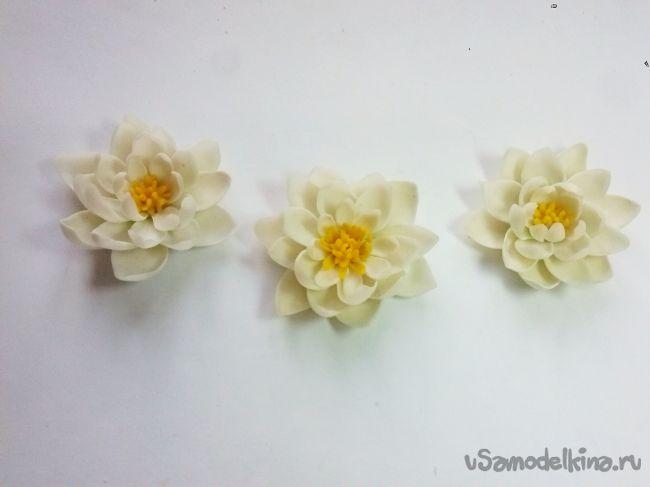 Кувшинки из полимерной глины (часть 1, лепка)