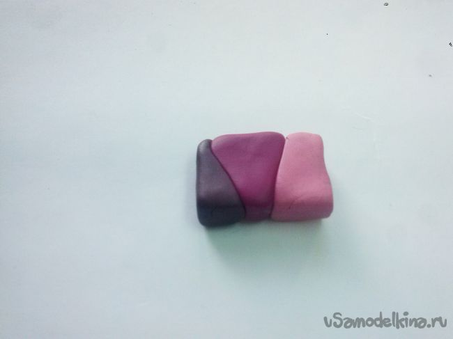 Заколка мальвы из полимерной глины