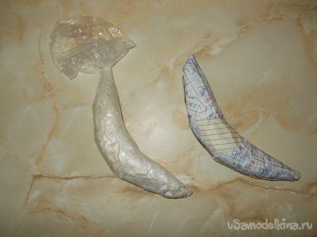 Декоративные бананы из папье-маше