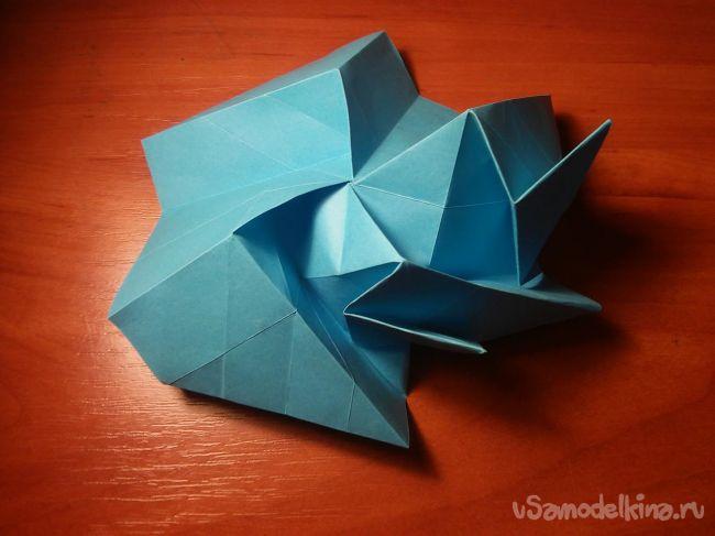 Оригами роза из бумаги - отличный подарок для ваших родных