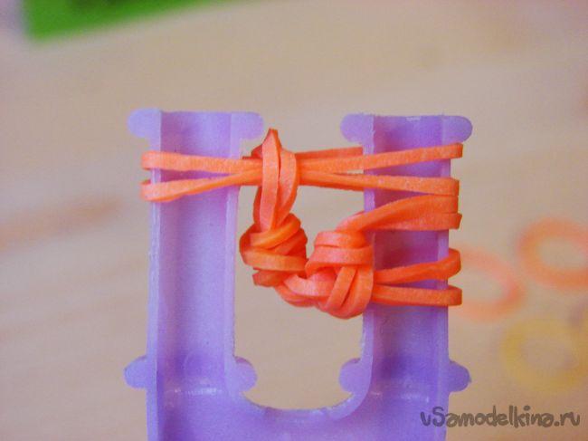 «Бабочка» из силиконовых резинок