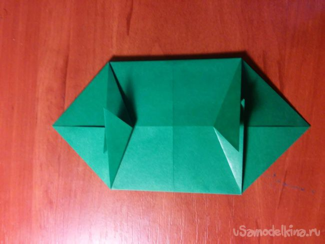 Оригами - стегозавр из бумаги