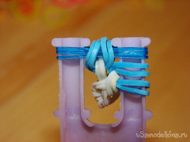 «Звездочка» из резинок. Украшение на ёлочку