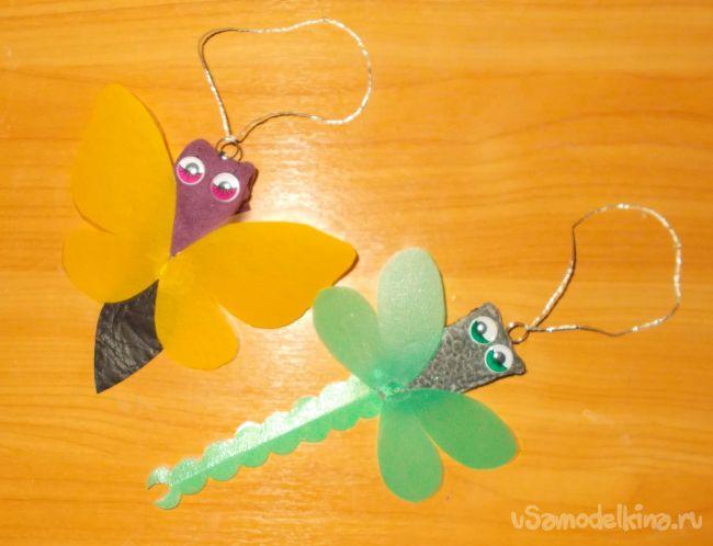 Забавные чехлы для USB флеш-накопителей (флешек) своими руками в виде стрекозы и бабочки