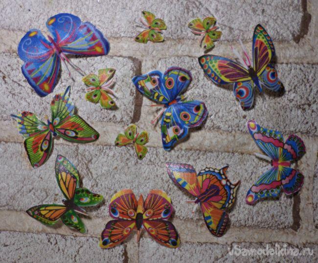 Декупажные объёмные авторские бабочки