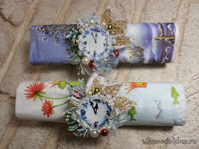 Салфеточные кольца «Новогодние» из бросового материала