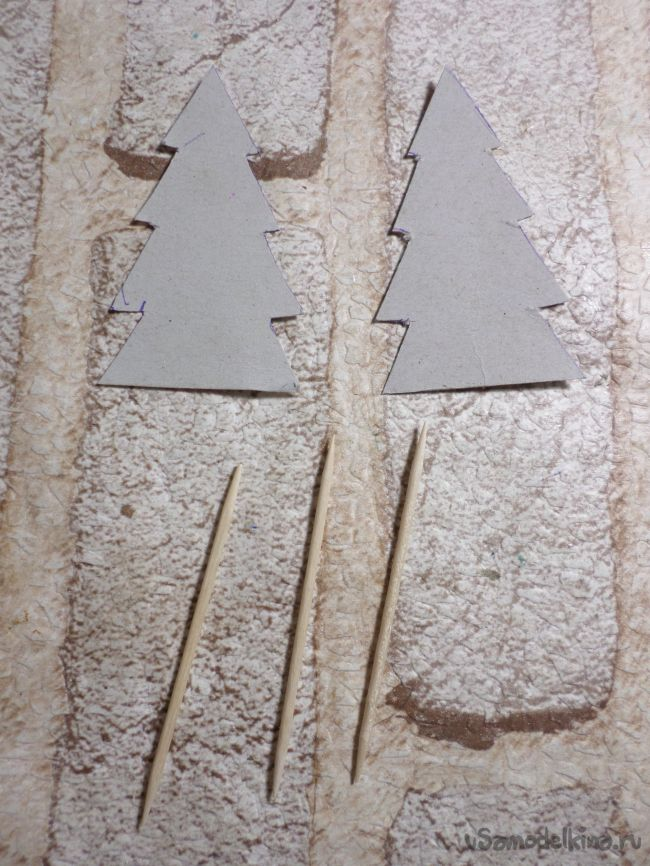 Шпажки-ёлочки для канапе и стикер