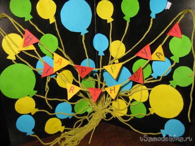 Открытка «Happy Birthday»
