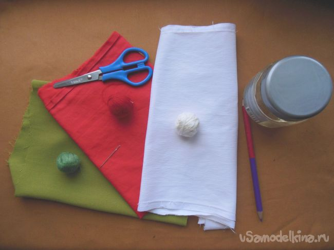 Ёлочные игрушки из ткани