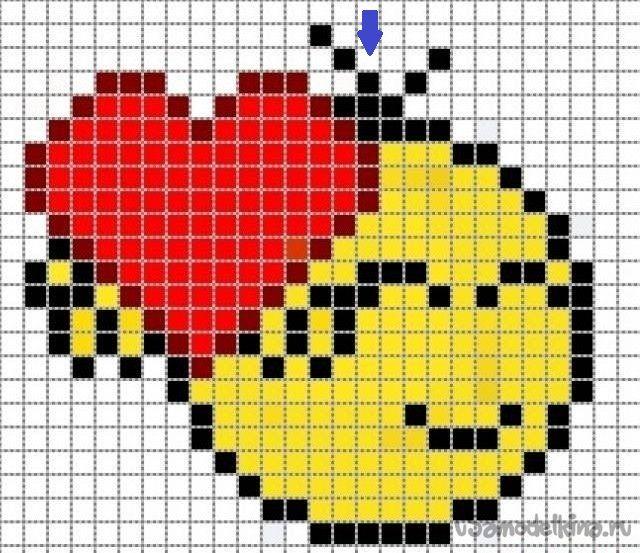 Брелок Смайлик с сердечком