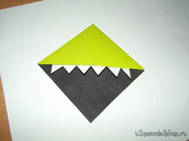 Закладки для книг в технике оригами «Монстрики»