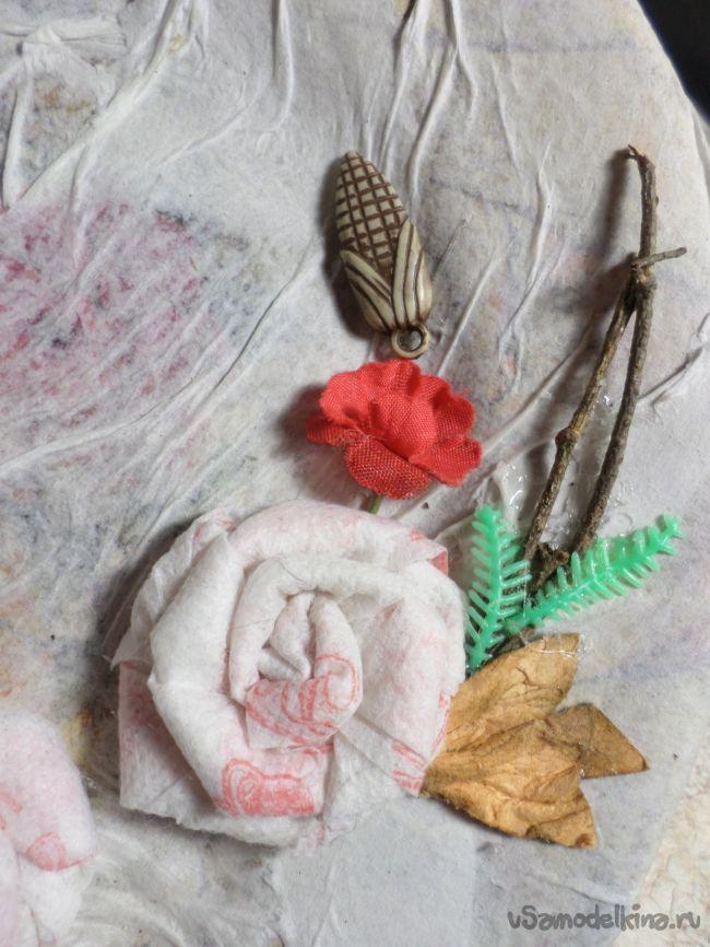Панно «Веточка розы»