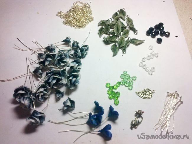 Браслет  «Лесная феерия» из пластики