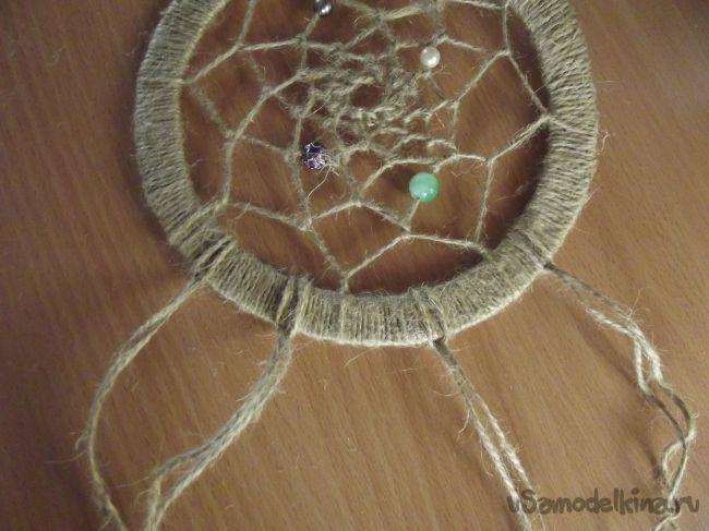 Амулет «Ловец снов» из джутового шпагата
