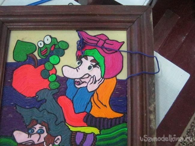 Картина из пластилина «В гостях у сказки»