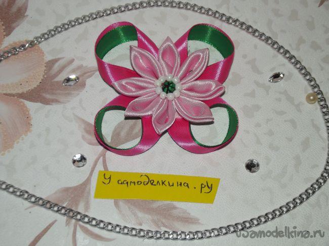 Весеннее украшение в технике канзаши