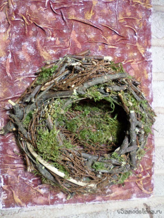 Панно «Птички в гнезде»