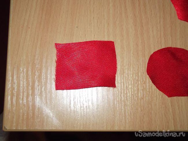 Красные маки в технике канзаши
