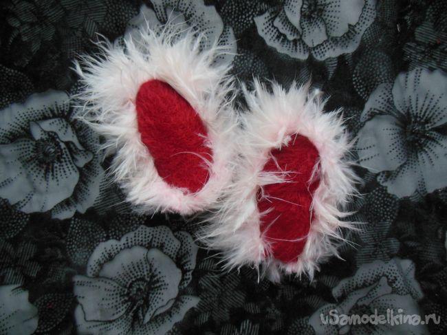 Мягкая валентинка «Зайка»