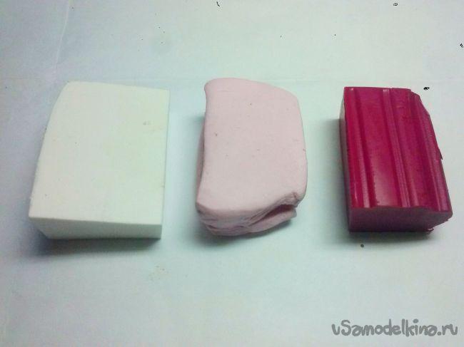 Брошь камелия из полимерной глины