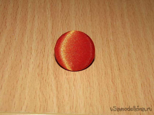 Украшение канзаши на повязку для волос «Ромашка»