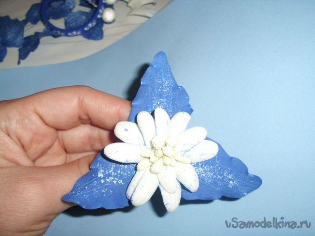 Резинки для волос с цветами из фома