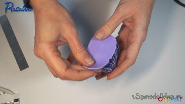Трость из полимерной глины «Сложный листик»